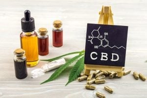 Different grades of CBD oil and its molecular compound