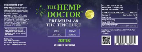 Delta 8 1000 mg + CBN 300 MG Zkittlez flavor