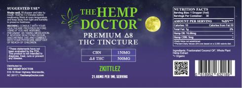 Delta 8 500 mg + CBN 150 MG Zkittles flavor