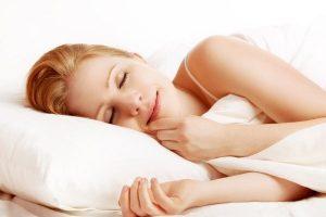 Woman getting a good sleep.